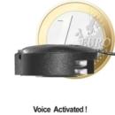 Funkbasiertes Abhörgerät im MICRO-(Knopfzellen)-FORMAT, sprachgesteuert. Hohe Ausgangsleistung (10 mW) Reichweite bis zu 1000 mtr., Totale Frequenzstabilität, VoiceControl / AGC (= Flüsterverstärker).