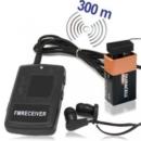 Äusserst preiswertes funkbasiertes Minisender Abhörgeräte Set-300 komplett mit passendem Empfänger zur Sprachüberwachung. Für Reichweiten bis zu 300 Meter.
