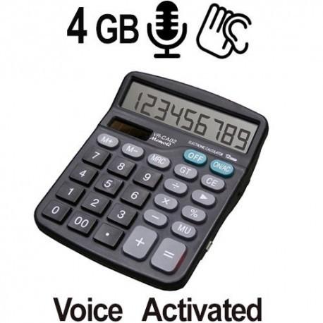 Voll funktionsfähiger Tischrechner mit integriertem Digital-Voice-Recorder, sprachgesteuert für Langzeitaufnahmen.