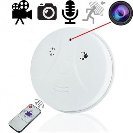 HD Spionagekamera getarnt im Rauchmelder. Durch die geltende Rauchmelderpflicht ist diese Spionagekamera praktisch überall und in fast jedem Raum sehr diskret einsetzbar.