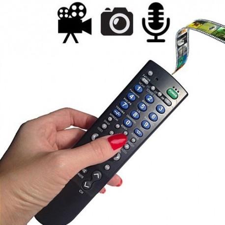 Full-HD Spionagekamera getarnt in funktionstüchtiger TV-Fernbedienung. Ultra-scharfe und klare Foto-, Video-, Ton-Aufnahmen. Fernbedienbar auf Knopfdruck Einzelbilder, Videos und Gespräche aufzeichnen.